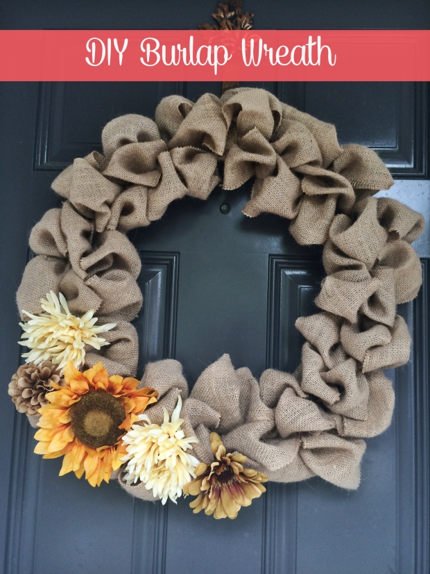 DIY Burlap Wreath - Some Shananagins Blog