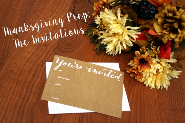 Thanksgiving Prep: The Invitations - Some Shananagins
